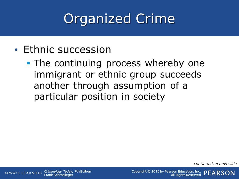 Organized Crime Ethnic succession