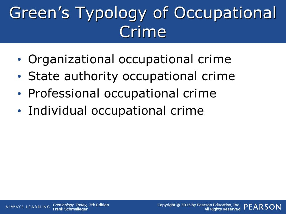 Green's Typology of Occupational Crime
