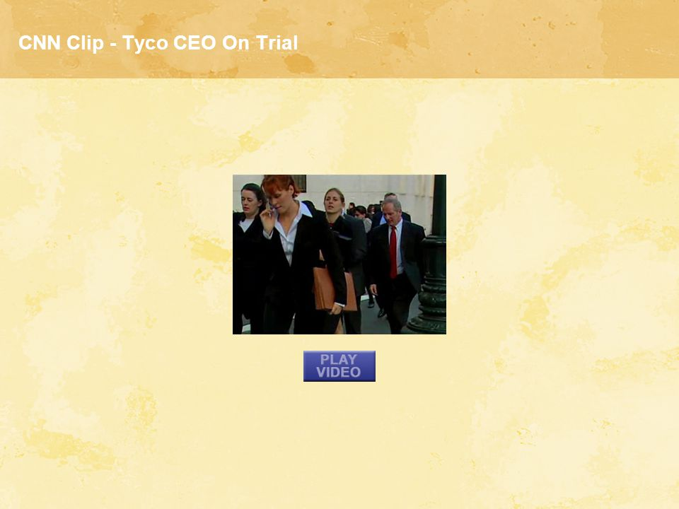 CNN Clip - Tyco CEO On Trial