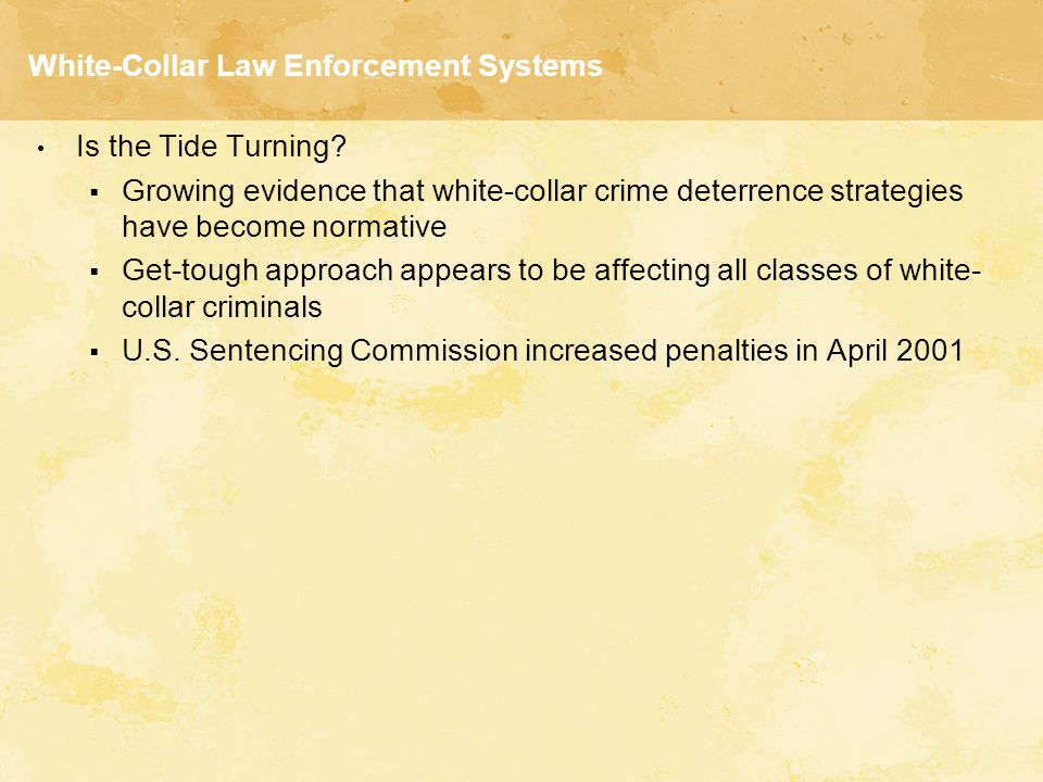 White-Collar Law Enforcement Systems