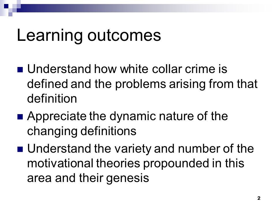 conclusion of white collar crime Although white collar crime costs an estimated $300 billion annually in the united states alone, few perpetrators are caught.
