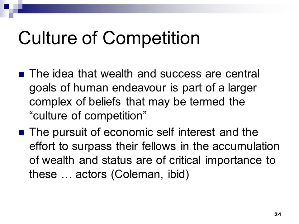 Culture of Competition