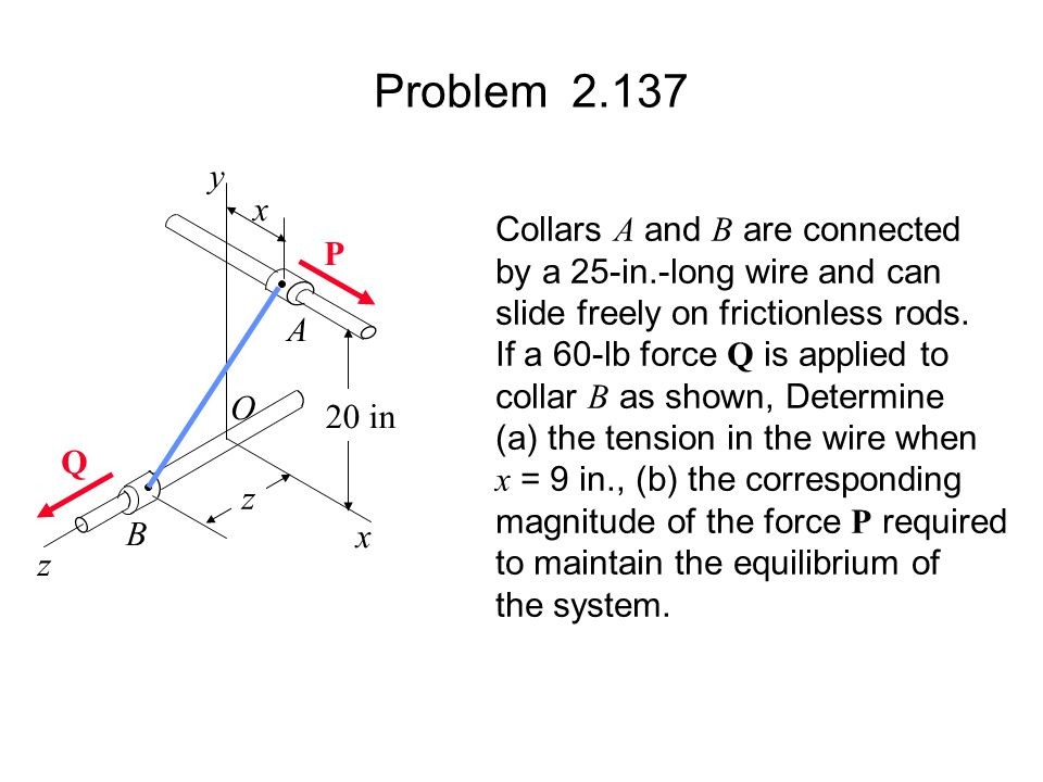 Problem 2.137 y x Collars A and B are connected P