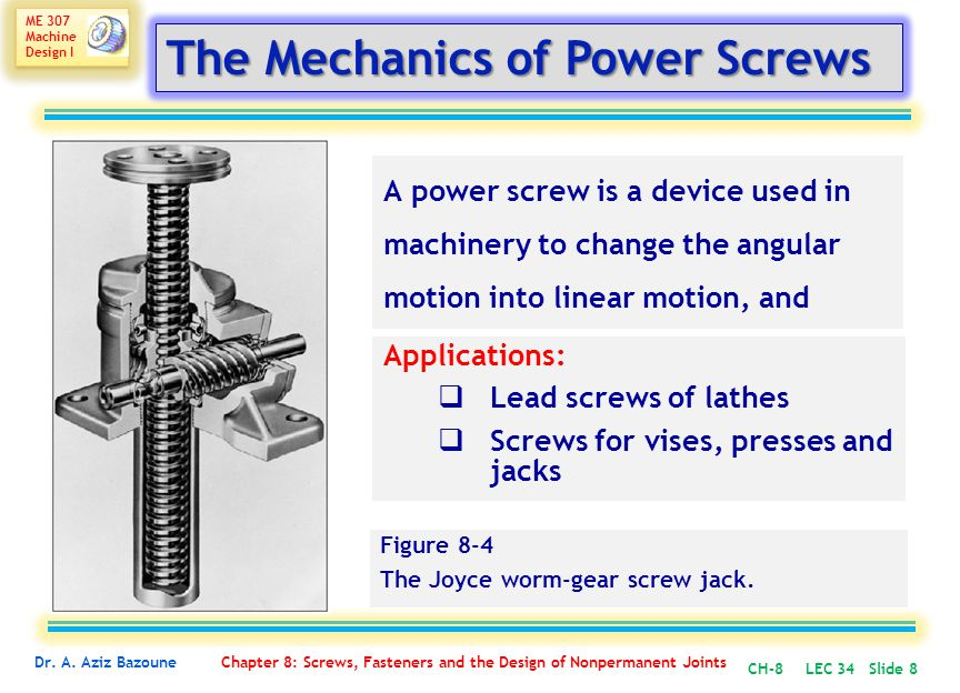 The Mechanics of Power Screws
