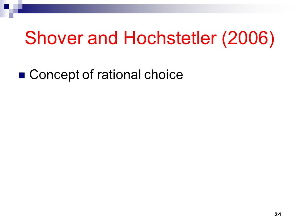Shover and Hochstetler (2006)