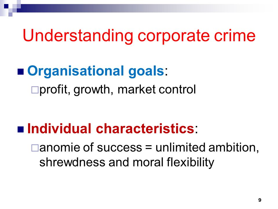 Understanding corporate crime