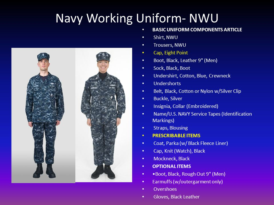 Navy Working Uniform- NWU