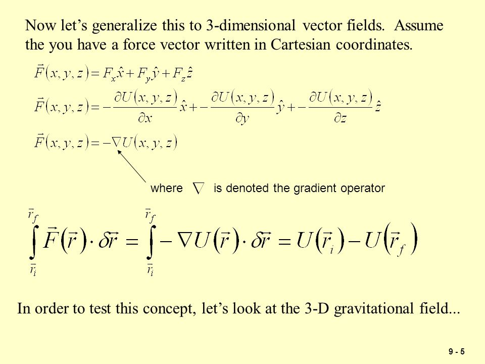 Now let's generalize this to 3-dimensional vector fields