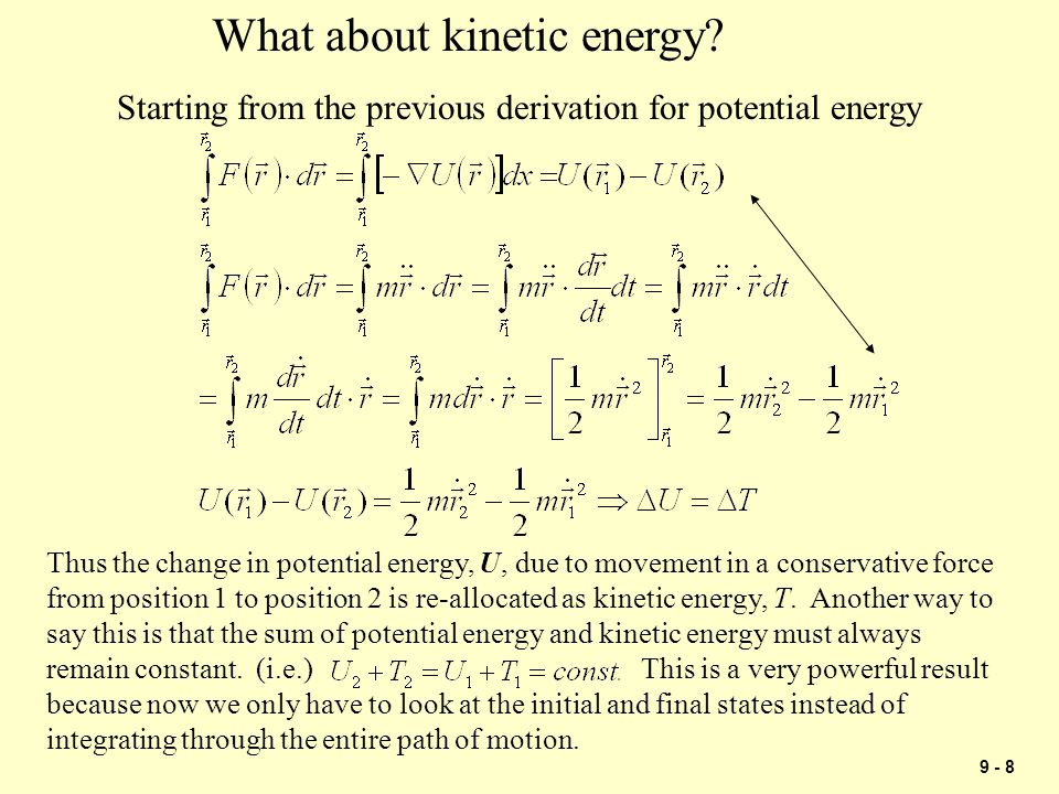 What about kinetic energy