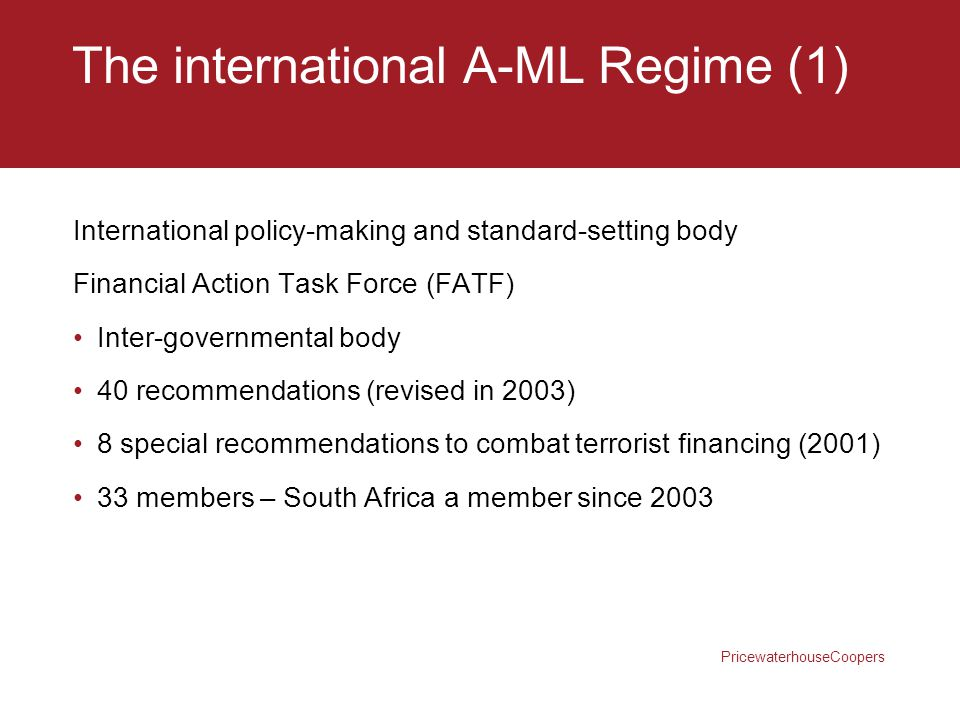 The international A-ML Regime (1)
