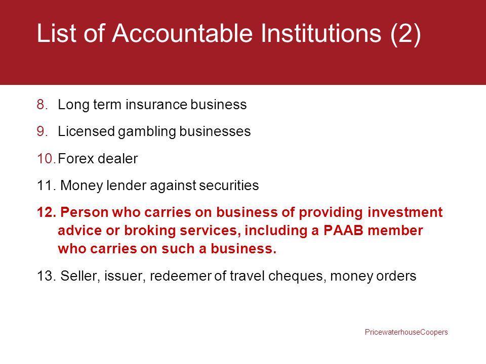 List of Accountable Institutions (2)