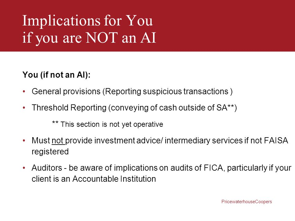 Implications for You if you are NOT an AI