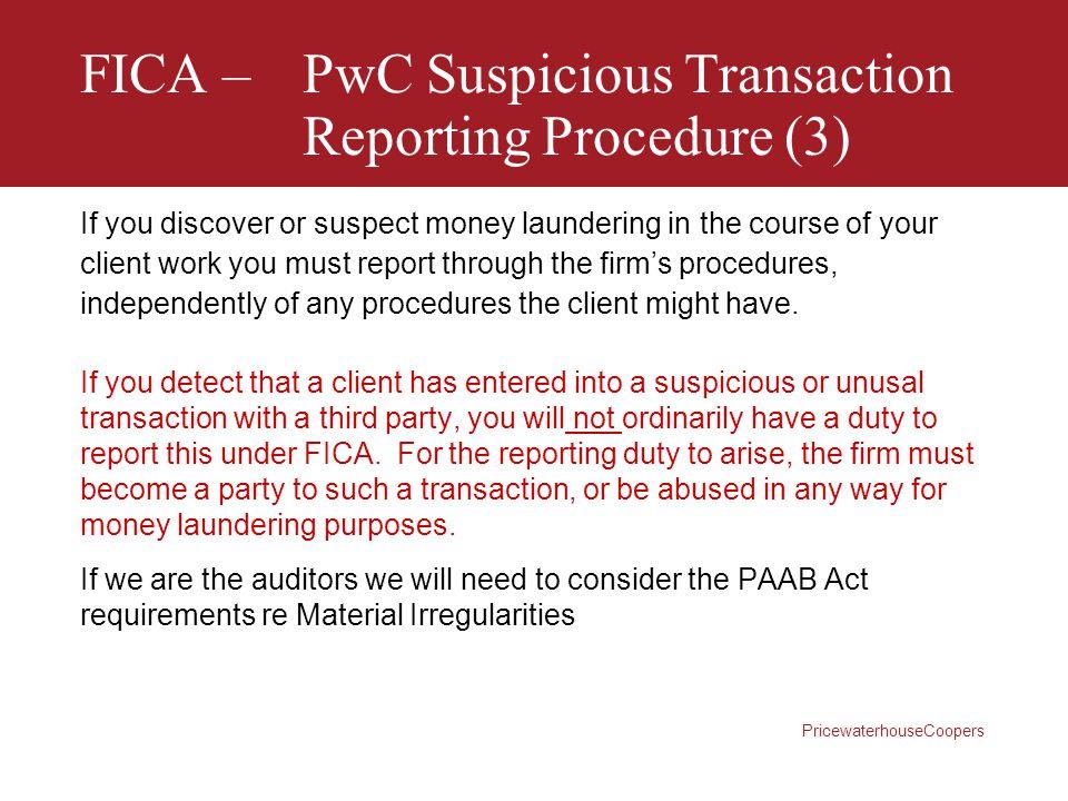 FICA – PwC Suspicious Transaction Reporting Procedure (3)