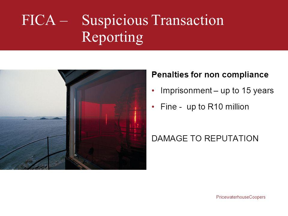 FICA – Suspicious Transaction Reporting
