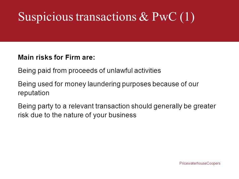 Suspicious transactions & PwC (1)