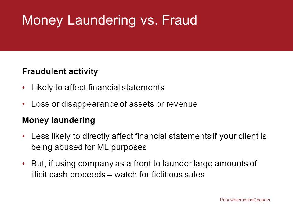 Money Laundering vs. Fraud
