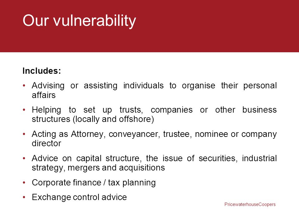 Our vulnerability Includes: