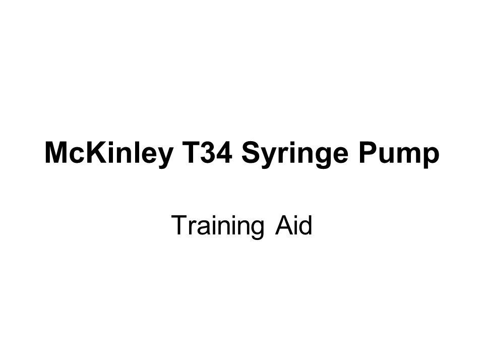 McKinley T34 Syringe Pump