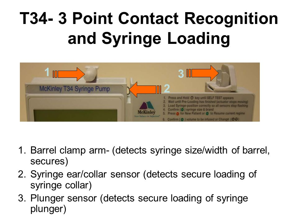 T34- 3 Point Contact Recognition and Syringe Loading