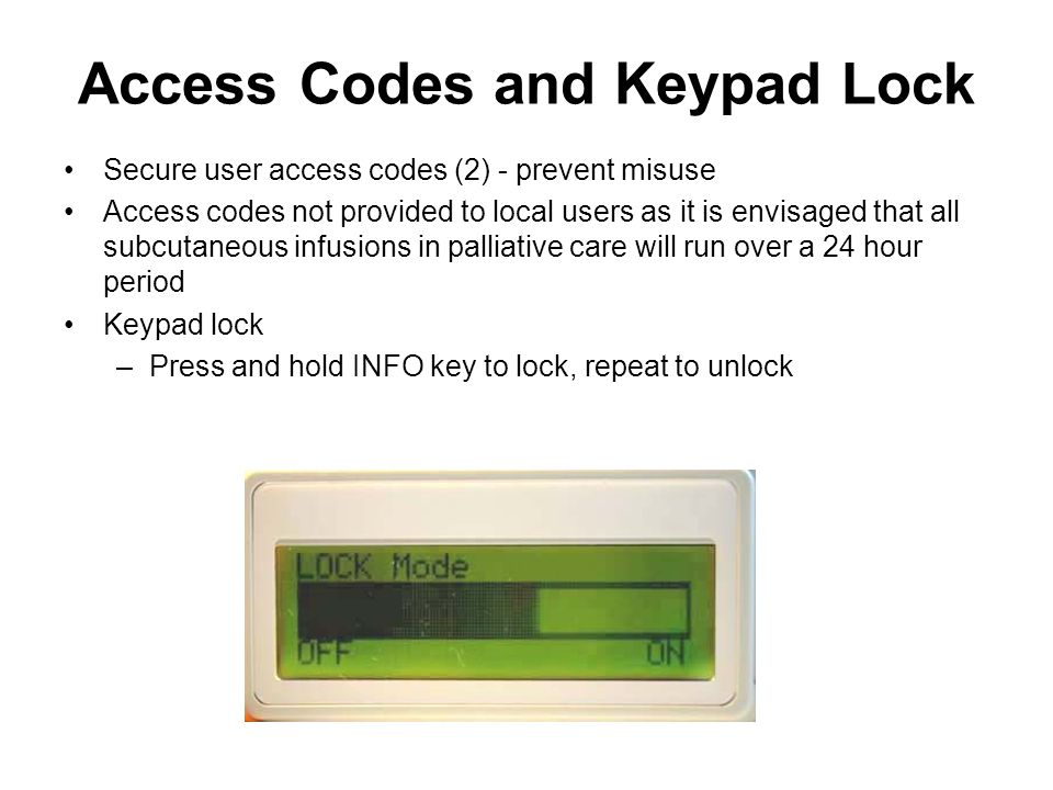 Access Codes and Keypad Lock