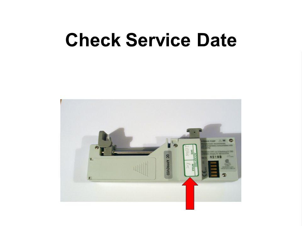 Check Service Date Annual service mandatory.
