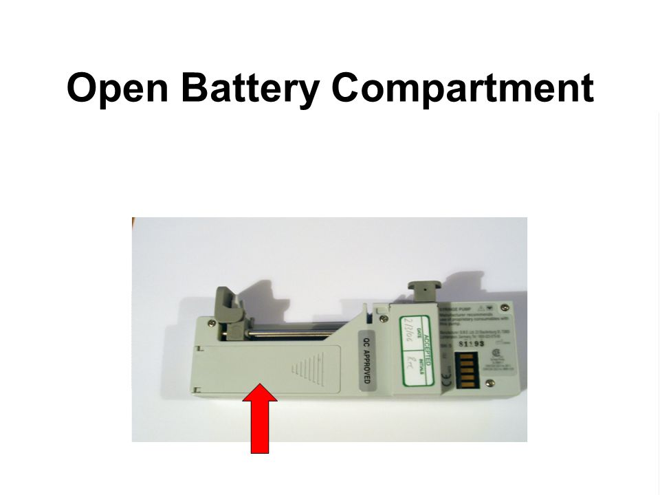 Open Battery Compartment