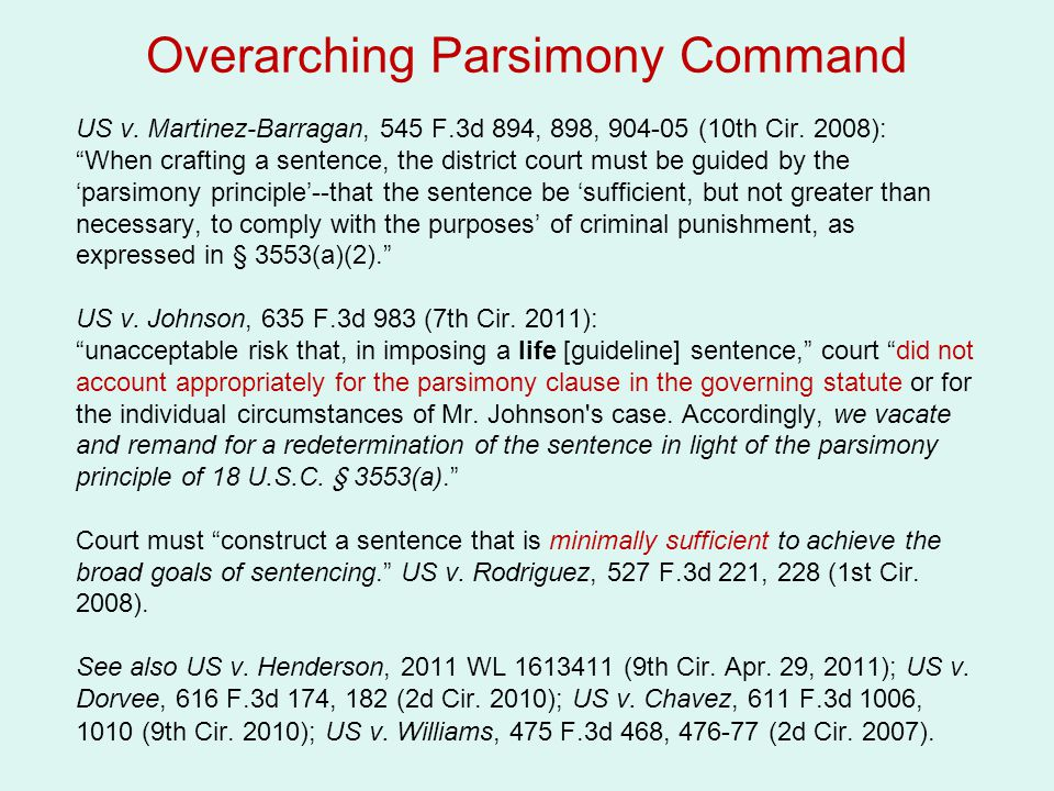 Overarching Parsimony Command