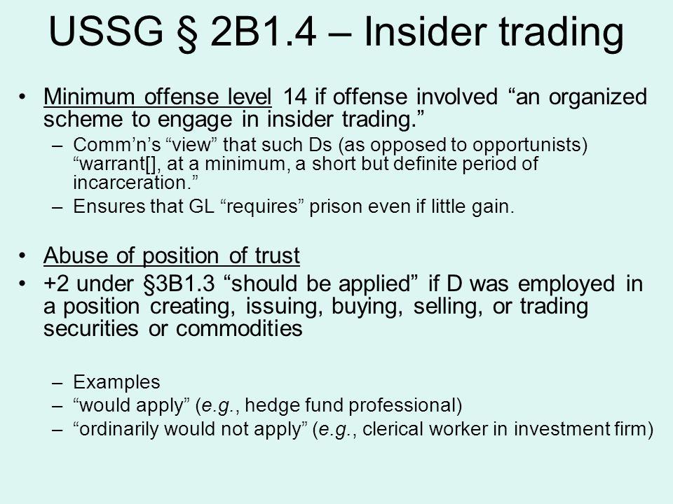 USSG § 2B1.4 – Insider trading