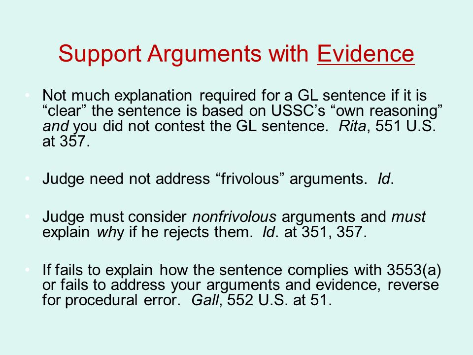 Support Arguments with Evidence