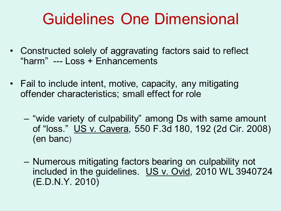 Guidelines One Dimensional