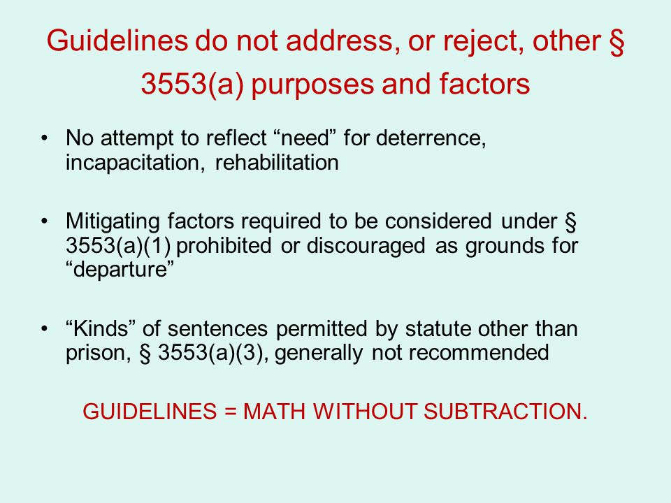 GUIDELINES = MATH WITHOUT SUBTRACTION.