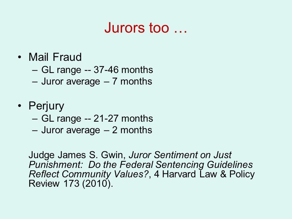 Jurors too … Mail Fraud Perjury