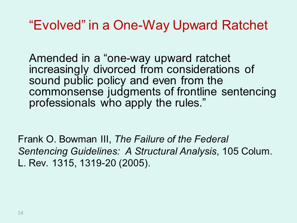 Evolved in a One-Way Upward Ratchet