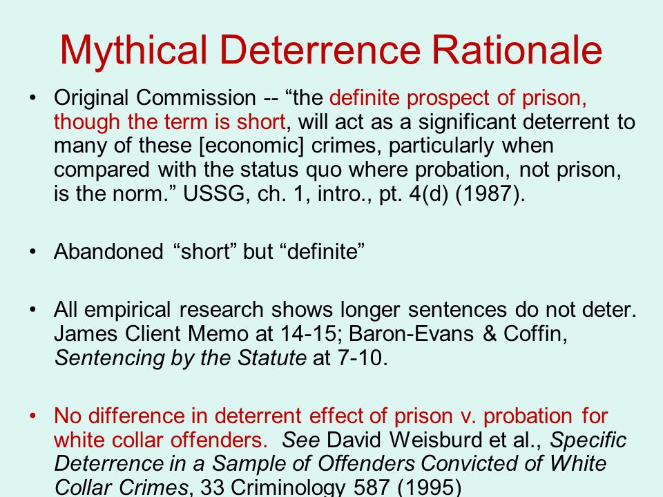 Mythical Deterrence Rationale