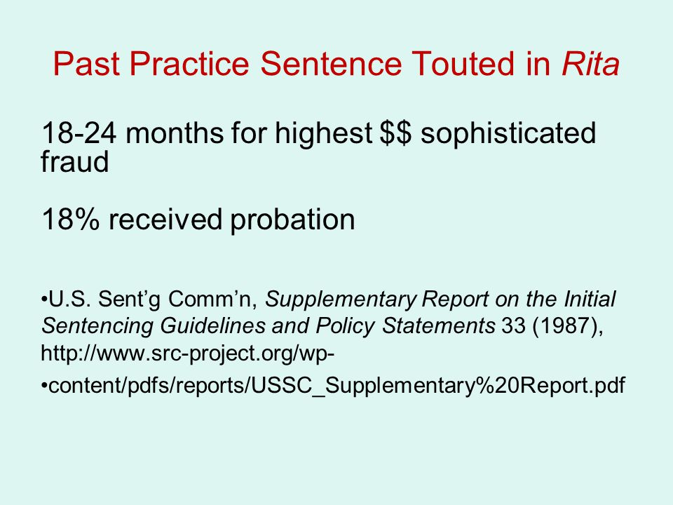 Past Practice Sentence Touted in Rita