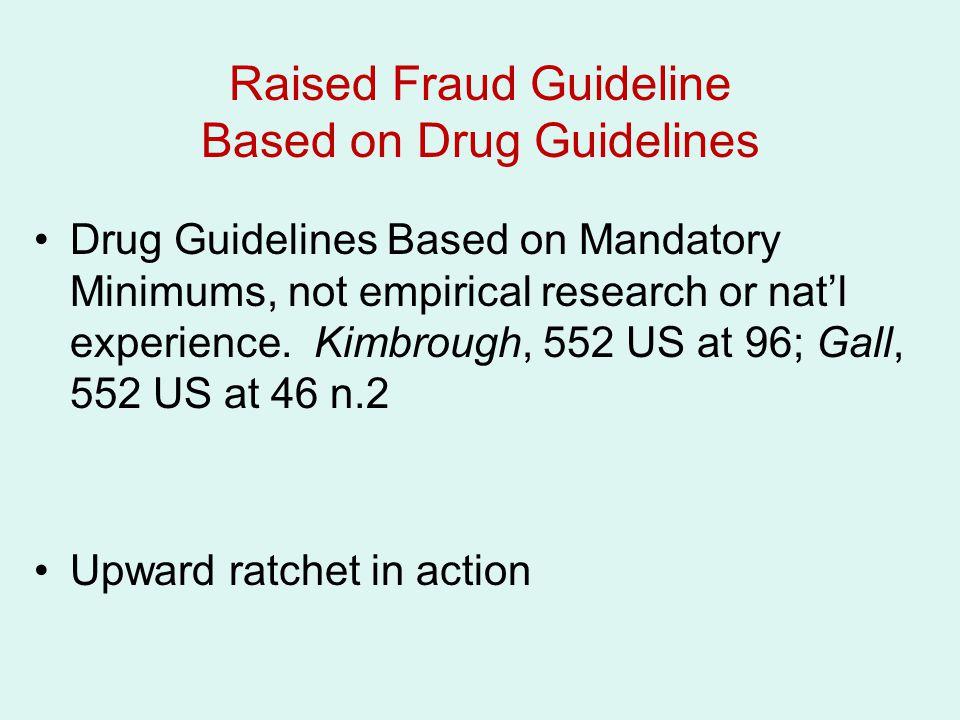 Raised Fraud Guideline Based on Drug Guidelines