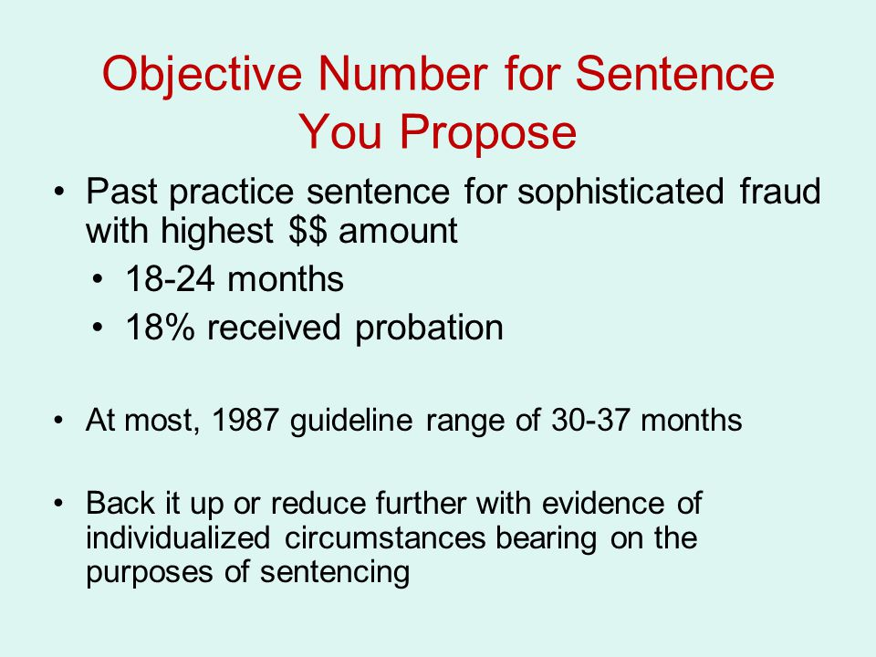 Objective Number for Sentence You Propose