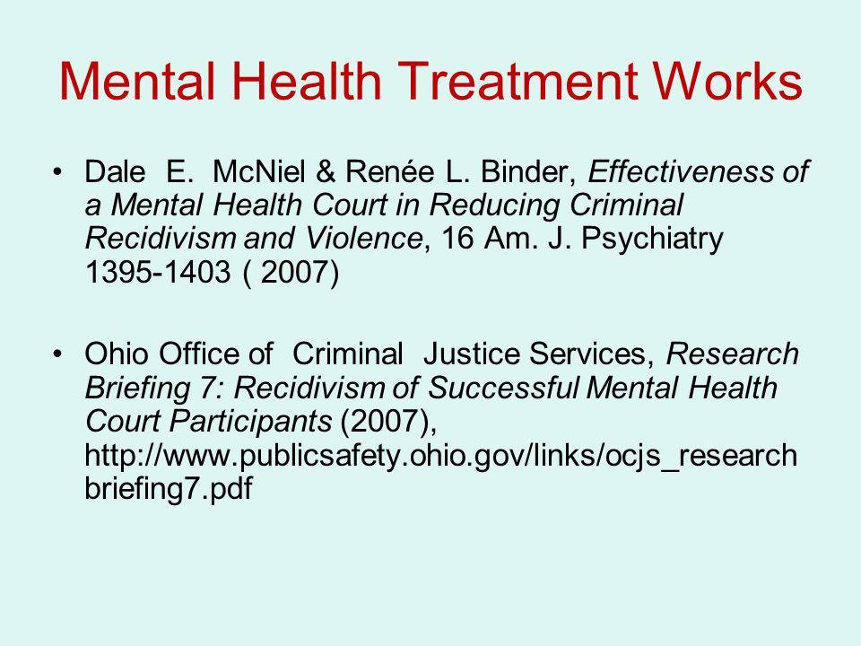 Mental Health Treatment Works