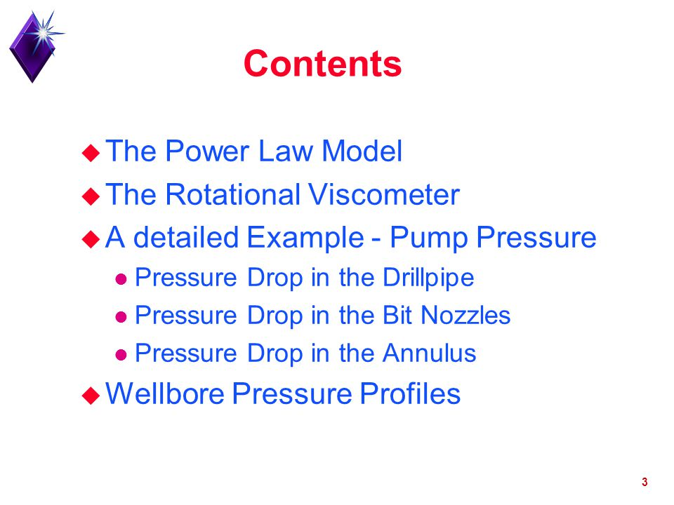 Contents The Power Law Model The Rotational Viscometer