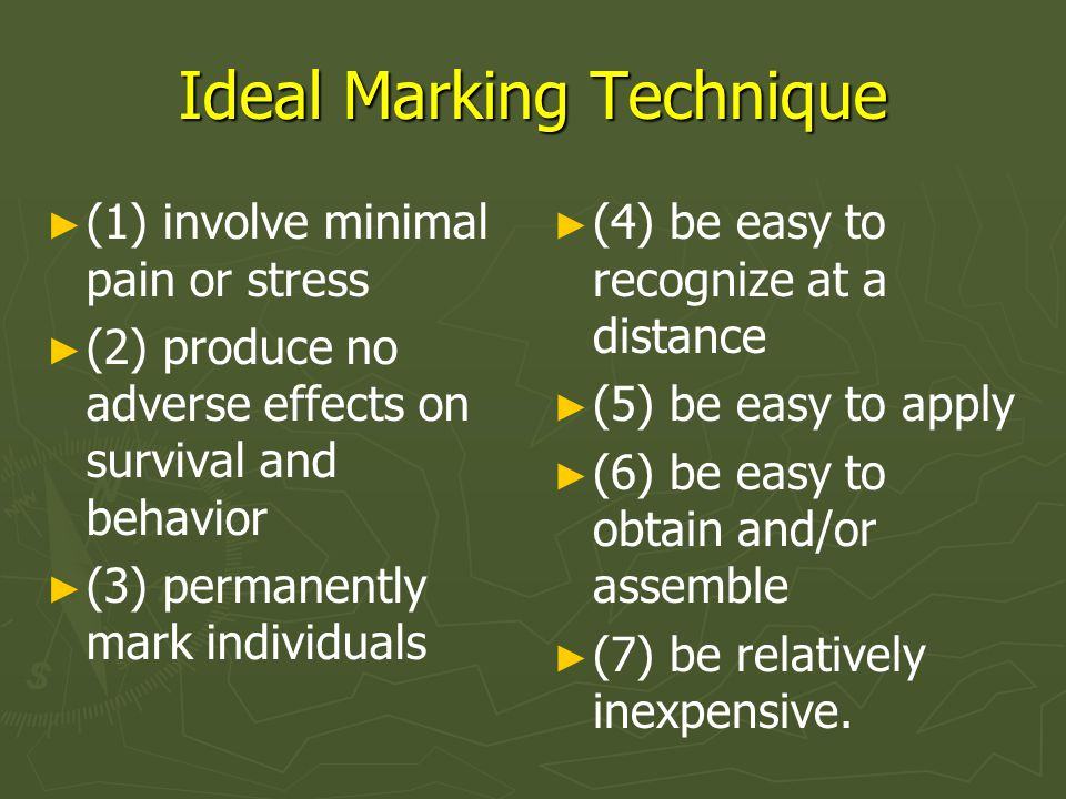 Ideal Marking Technique