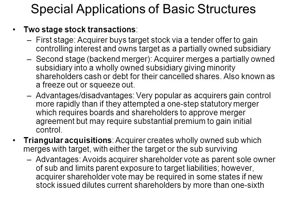 Special Applications of Basic Structures