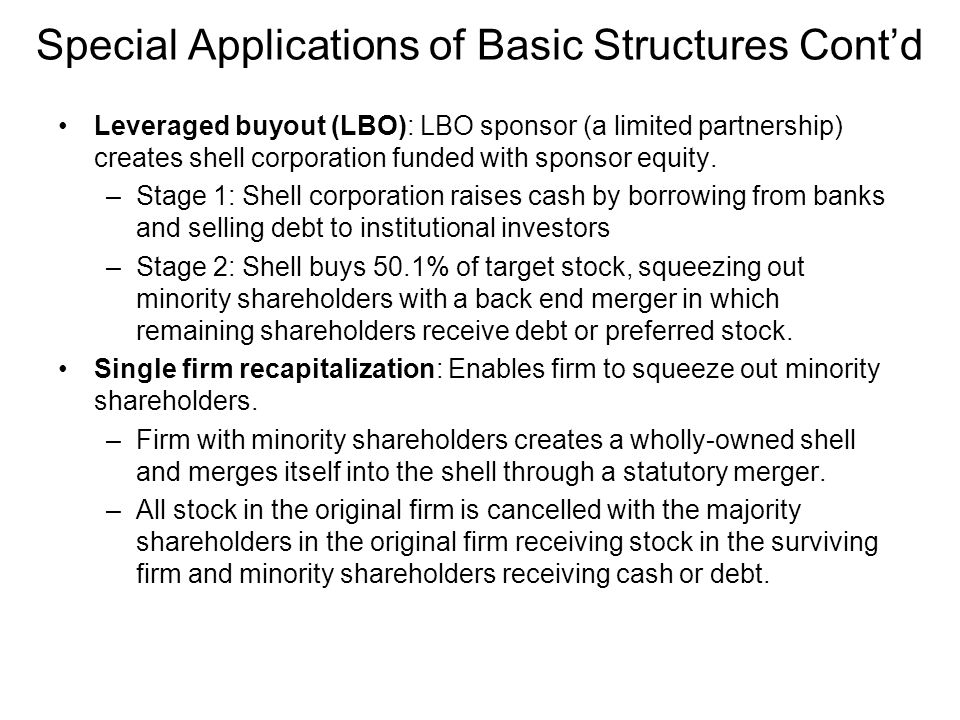 Special Applications of Basic Structures Cont'd