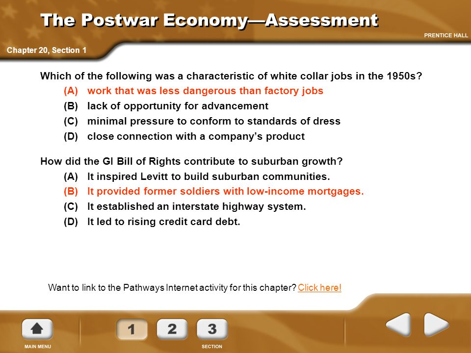 The Postwar Economy—Assessment