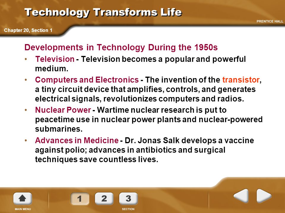 Technology Transforms Life
