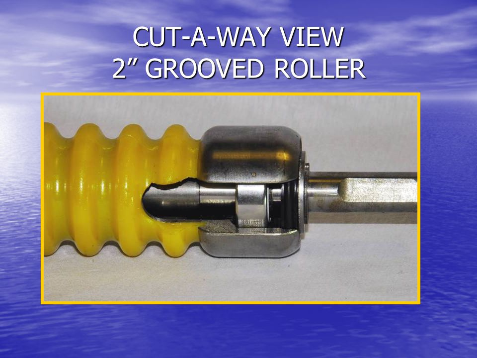 CUT-A-WAY VIEW 2 GROOVED ROLLER