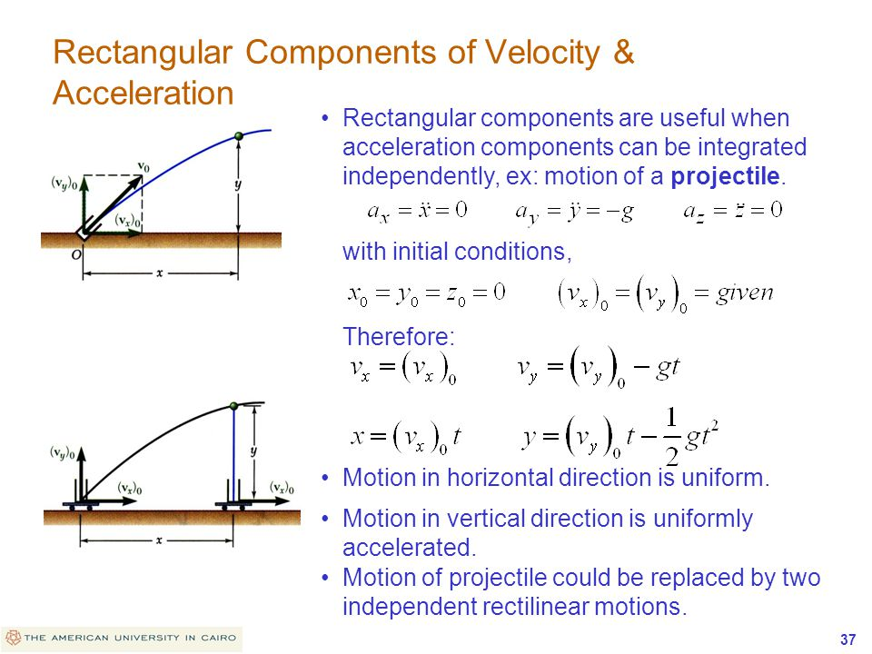 Rectangular Components of Velocity & Acceleration