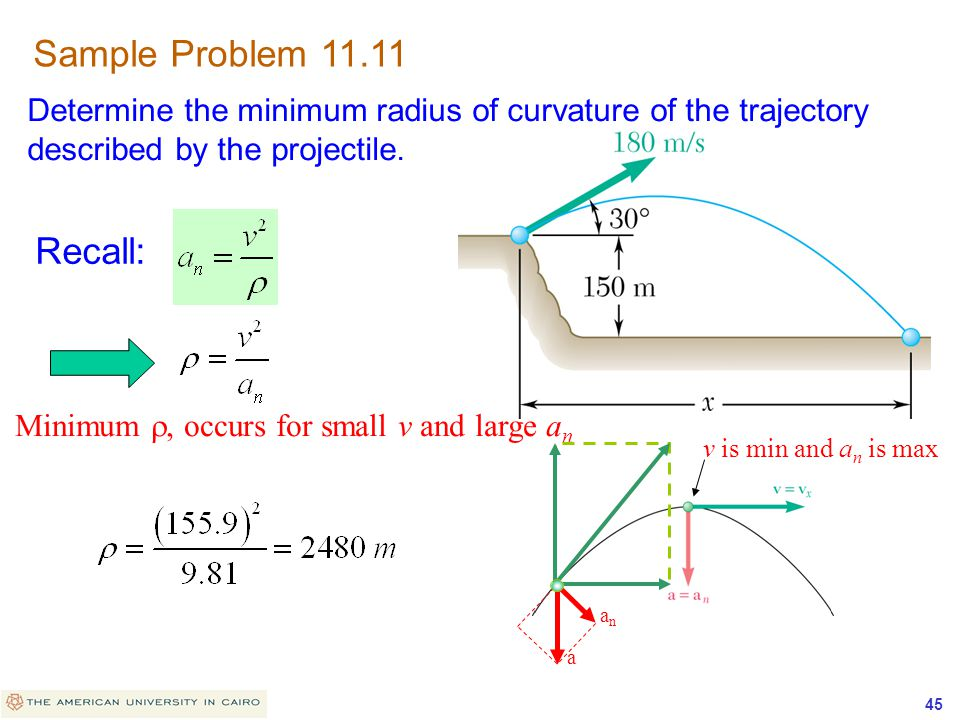 Sample Problem 11.11 Recall: