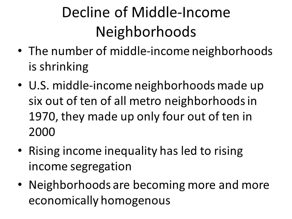 Decline of Middle-Income Neighborhoods