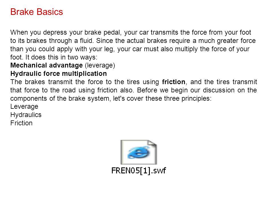 Brake Basics