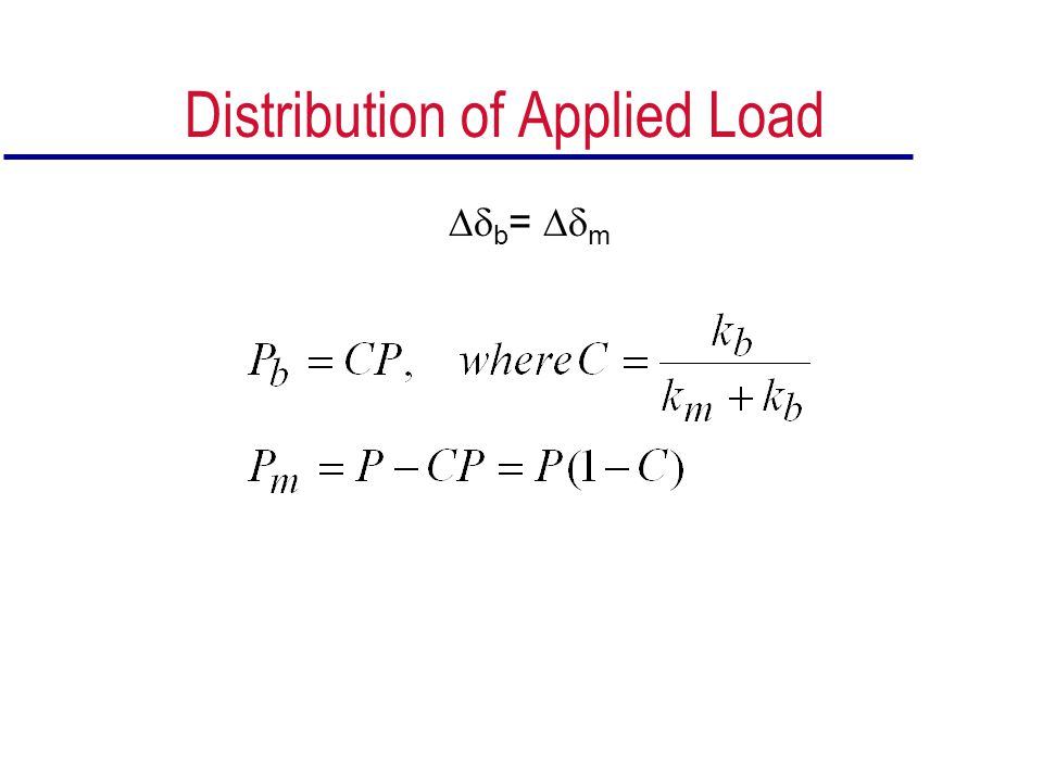 Distribution of Applied Load